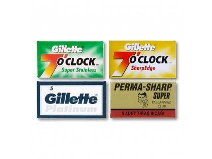 Testovací set žiletek Best of Gillette - 20 ks