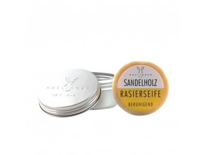 Haslinger Sandelholz mýdlo na holení v hliníkové dóze