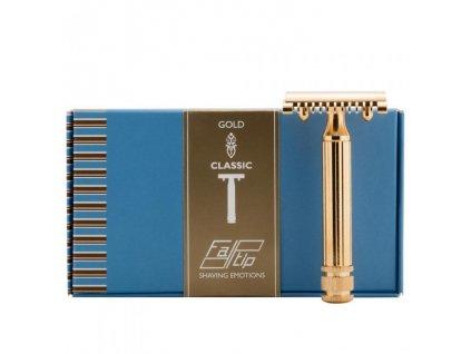 trojdílný holicí strojek Fatip Grande Gold