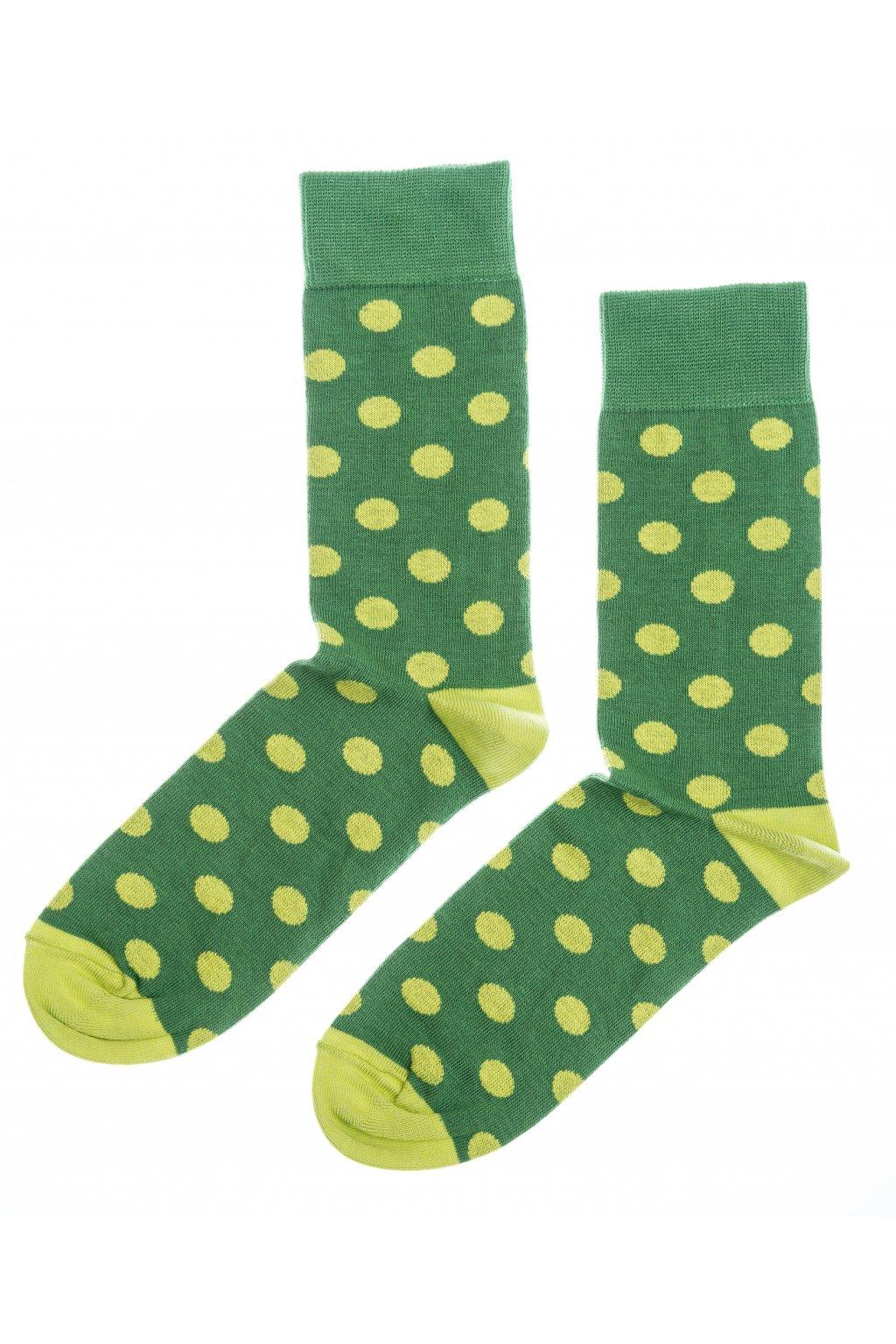 Barevné ponožky Nixon - zelené puntíky