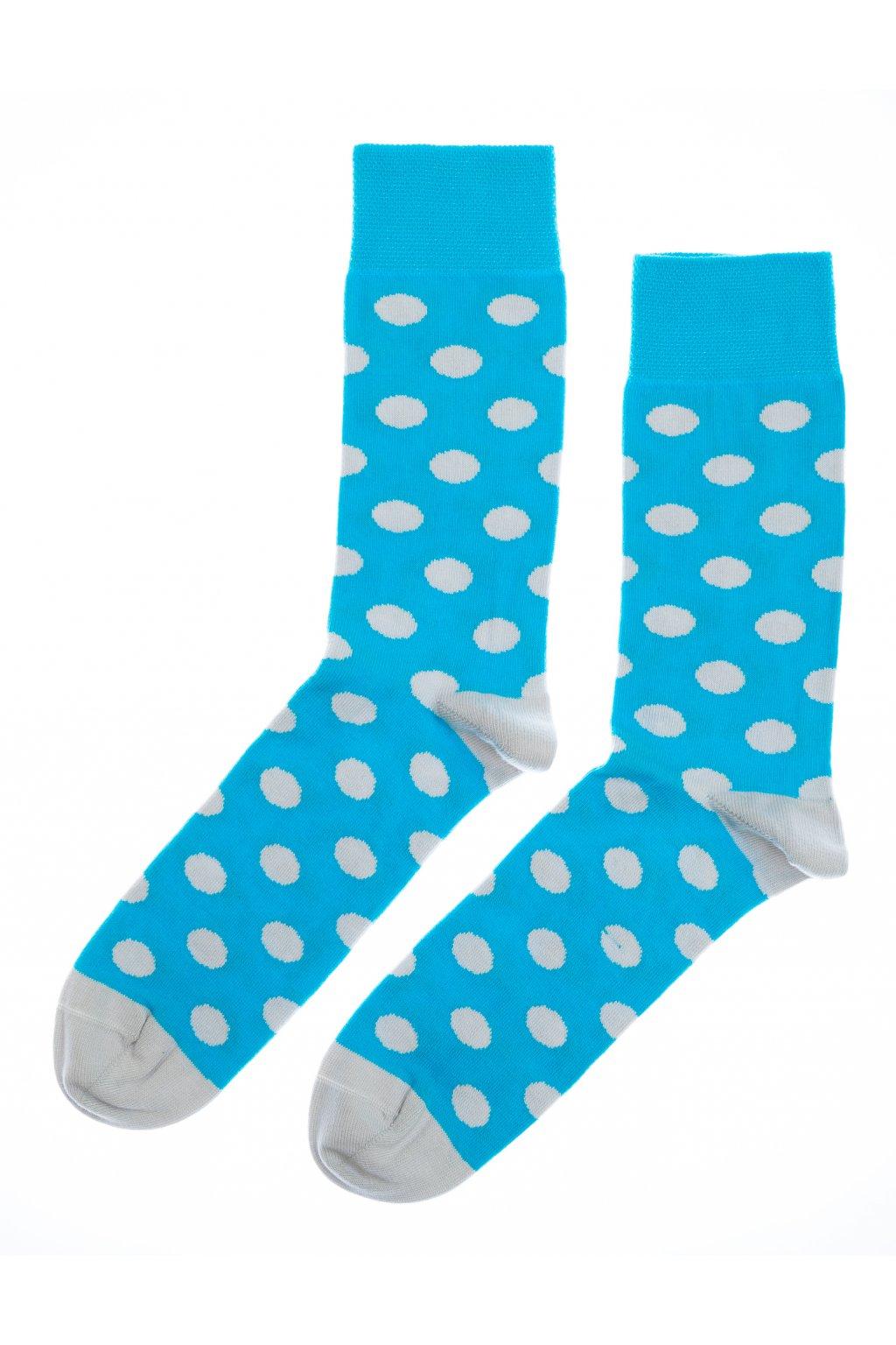 Barevné ponožky Edmund - modré puntíky