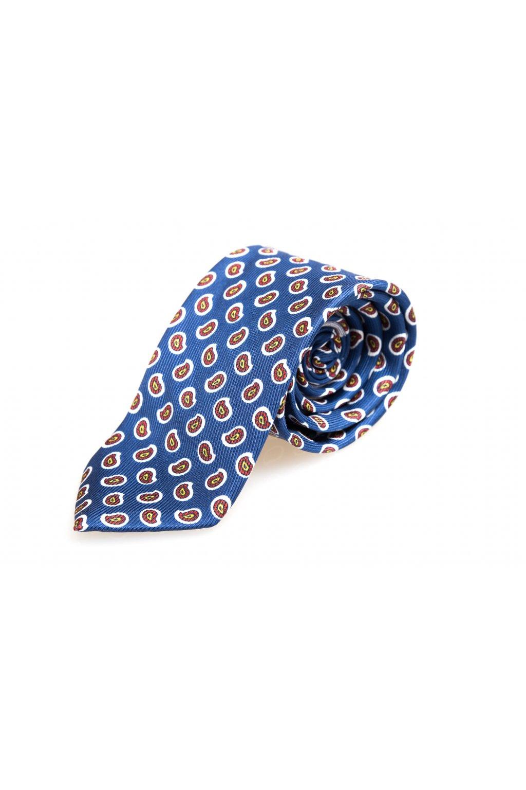 Hedvábná paisley kravata Glenn
