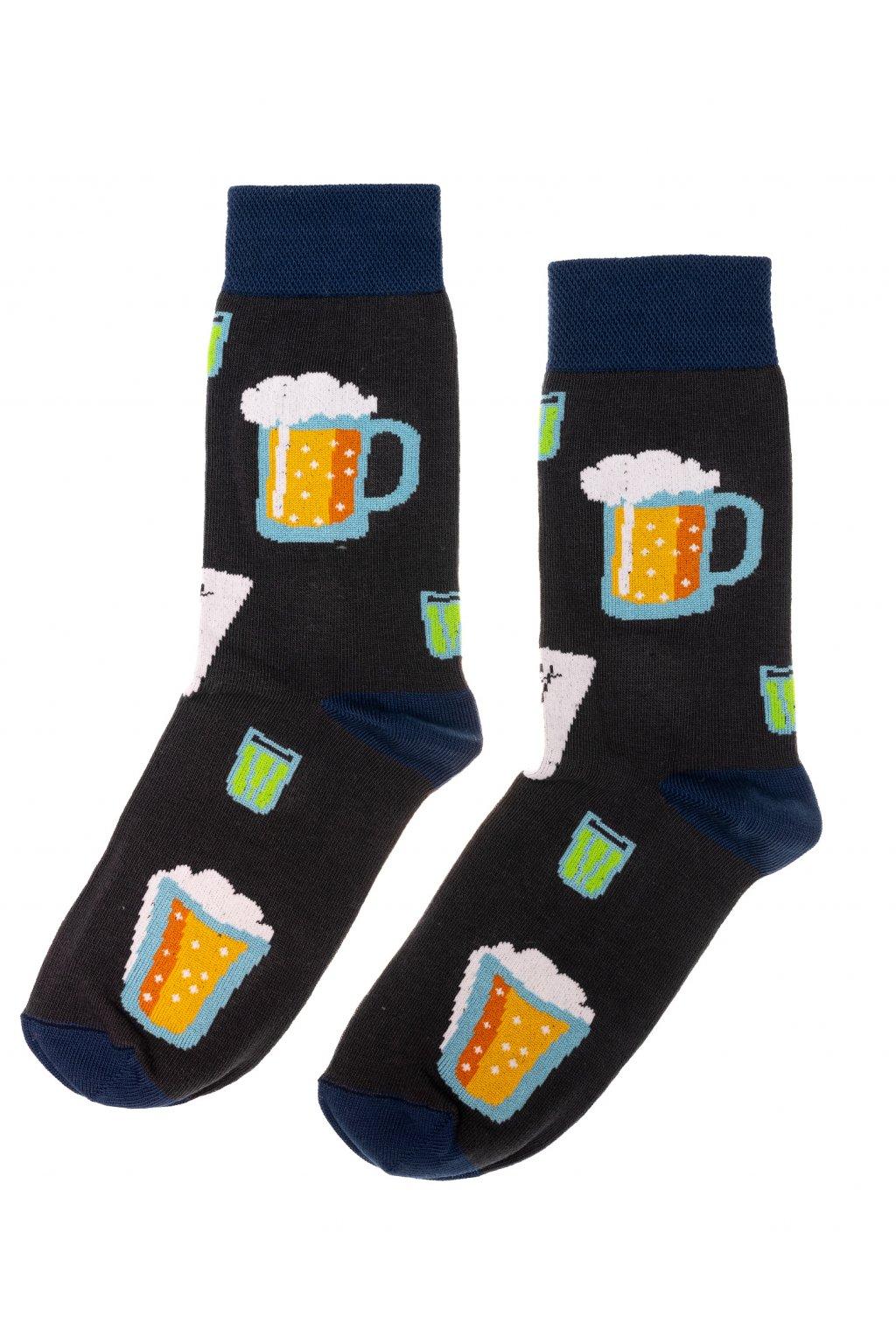 Barevné ponožky - pivo 2