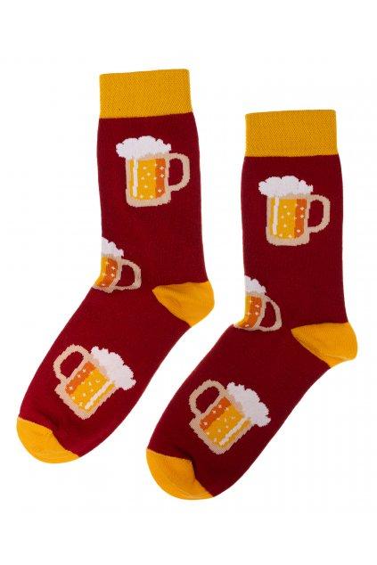 Barevné ponožky - pivo