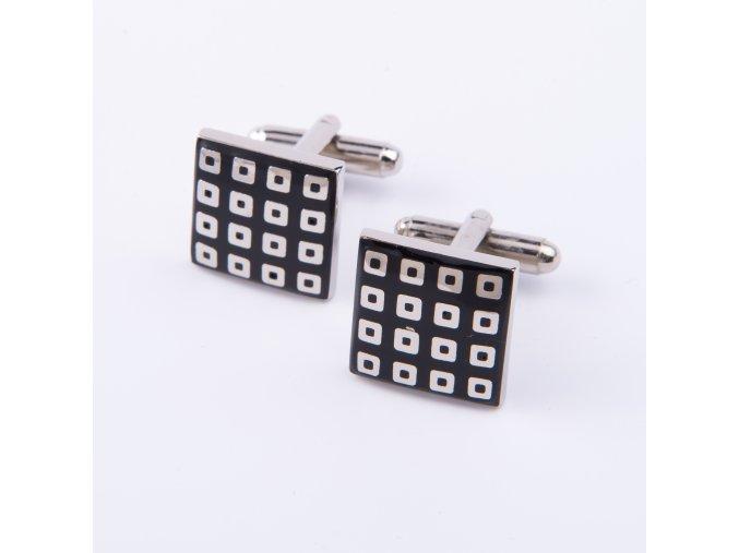 Manžetové knoflíčky čtvercové černé