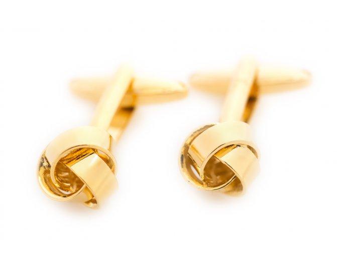 Manžetové knoflíčky - zlaté uzlíky