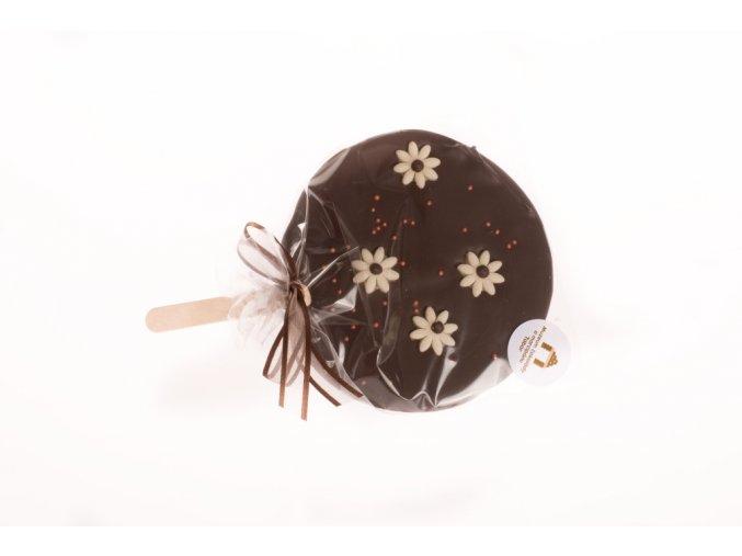 Čokoládové lízátko crazy z hořké čokolády 40 g. 56%