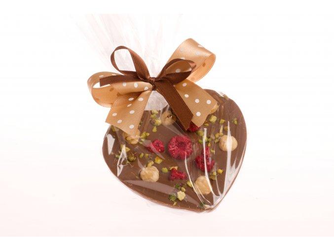Srdce malé z mléčné čokolády 125 g.