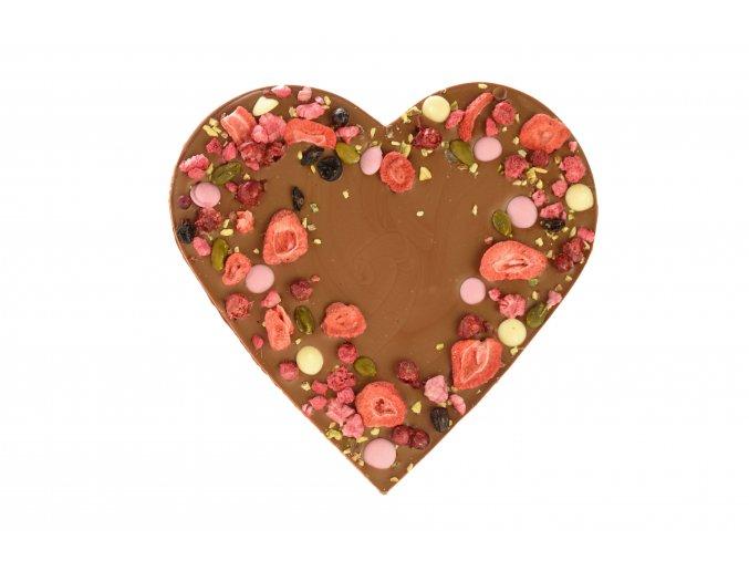 Srdce velké z mléčné čokolády 200 g.