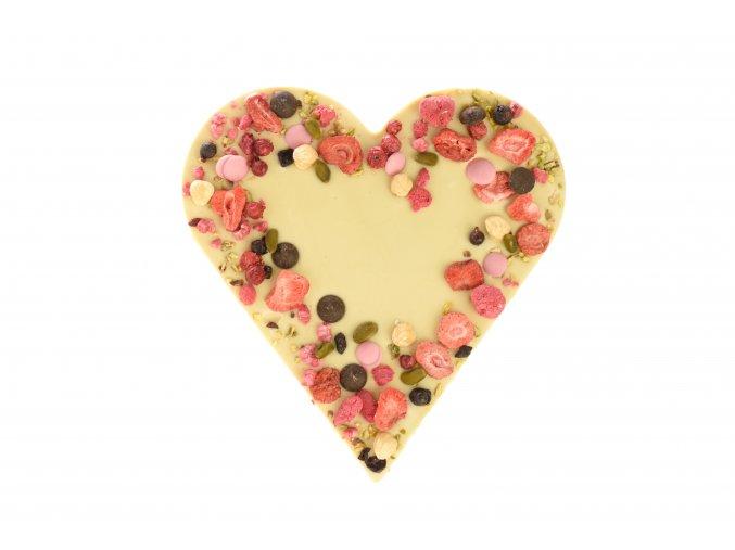 Srdce velké z bílé čokolády 200 g.
