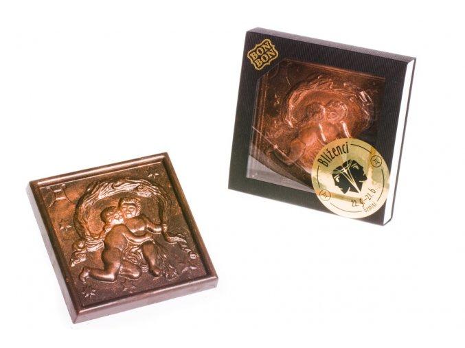 ZNAMENÍ BLÍŽENCI  hořká/mléčná čokoláda 100 g.