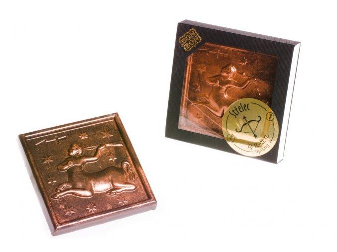 ZNAMENÍ STŘELEC hořká/ mléčná čokoláda 100 g.