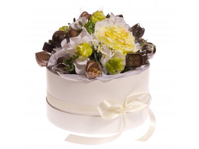 Květinový box bílý 300 g. pralinek