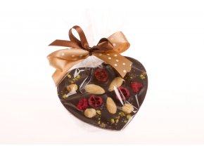 Srdce malé z hořké čokolády 125 g.