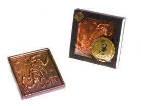 ZNAMENÍ ŠTÍR  hořká/mléčná čokoláda 100 g.
