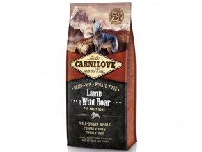3354 carnilove lamb wild boar for adult 12kg tenesco cz