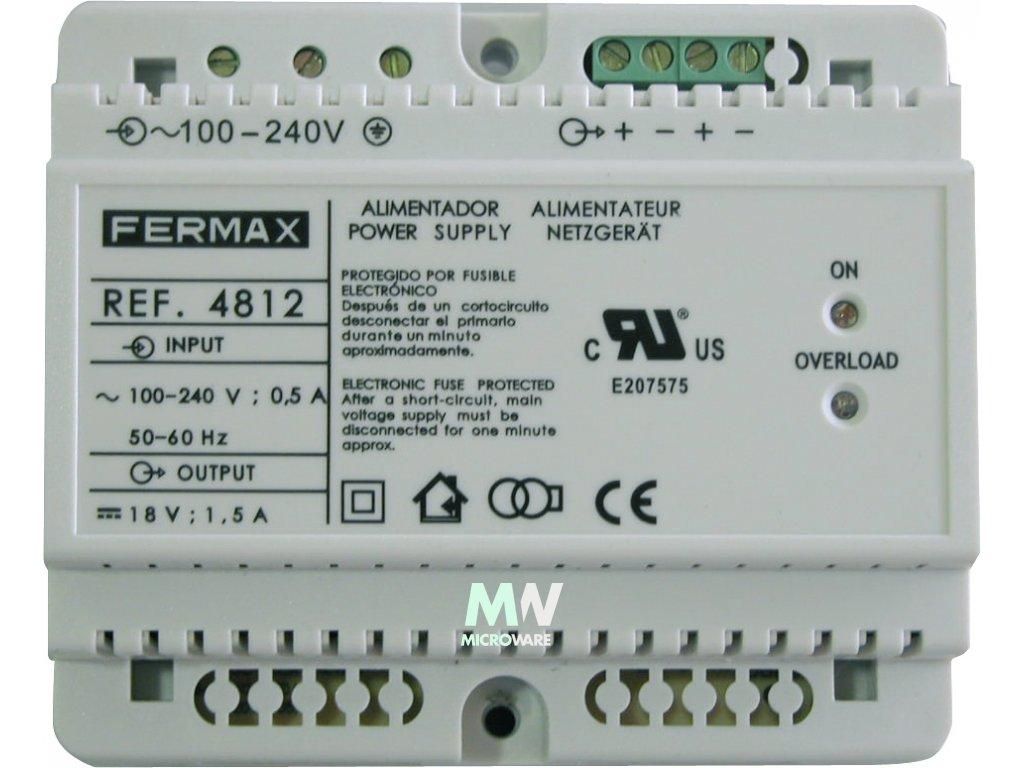 Fermax 4812 VDS napájecí zdroj 1,5A