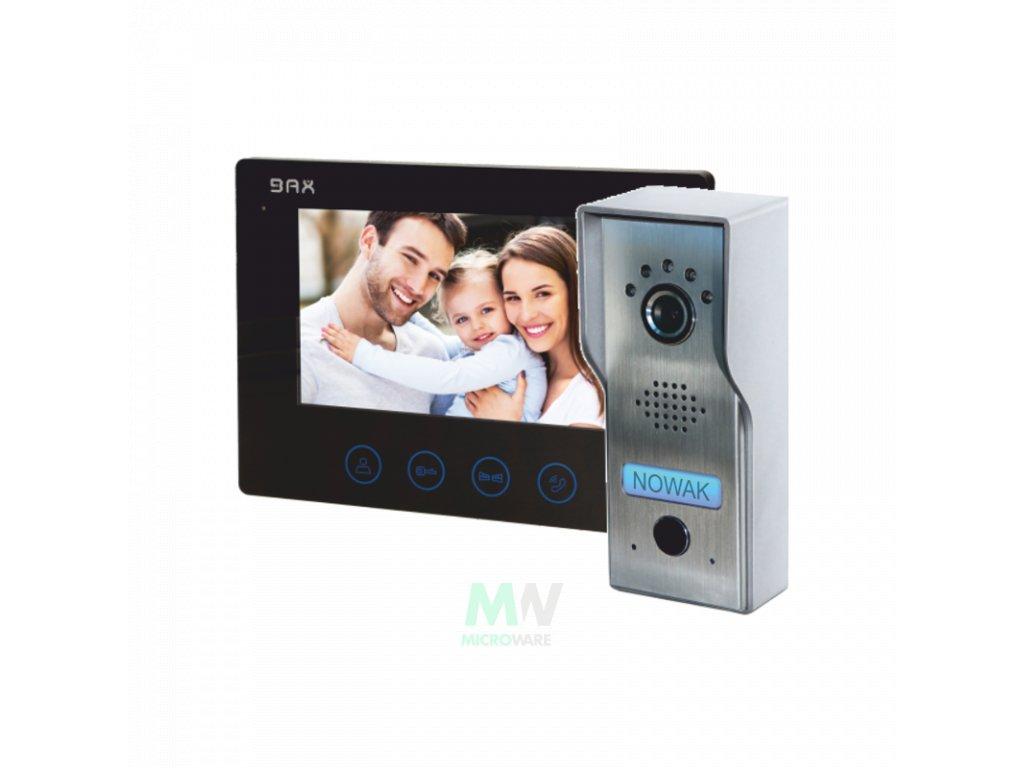 """ORNO BAX VDP51 sada HF domovního telefonu pro 1 účastníka PLUTON BAX, 7"""""""