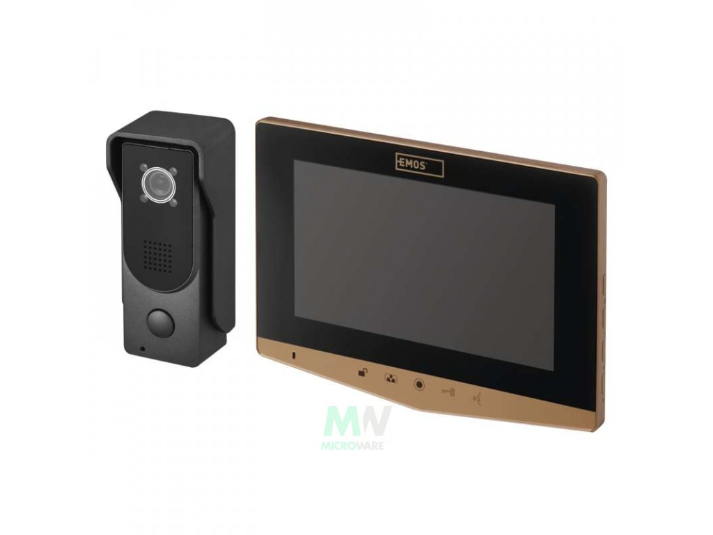 Emos H2031 Domácí videotelefon EMOS, barevná sada - zlatá