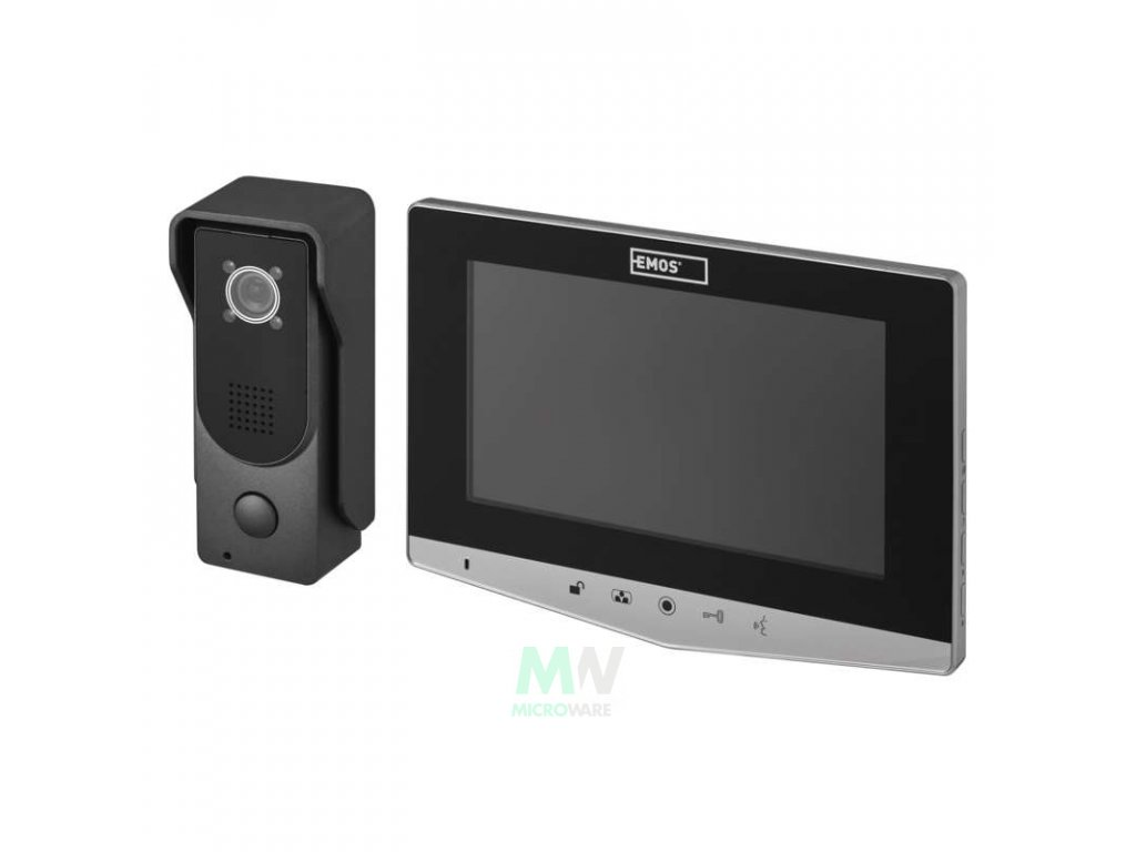 Emos H2030 Domácí videotelefon EMOS, barevná sada - stříbrná