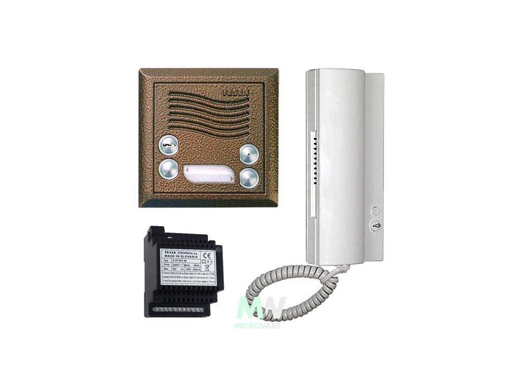 4FY 110 26.2 Audiosada 4+n s elektronickým vyzváněním pro 1 byt (Barevné provedení Antika - stříbrná)