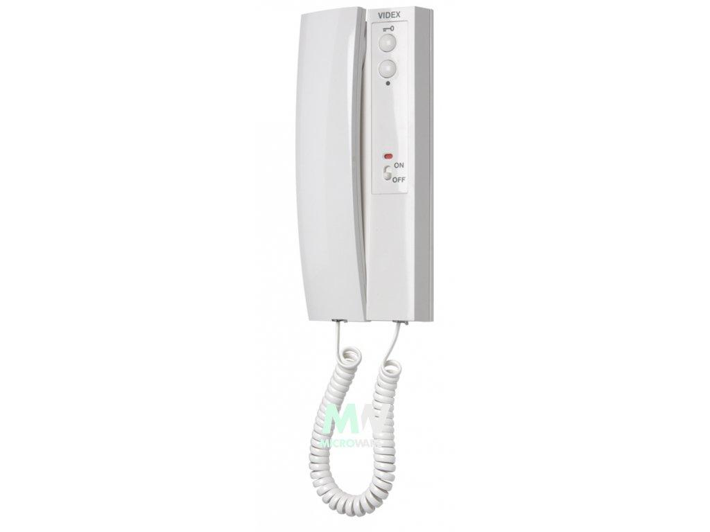 Videx ART. 3102  Domovní tel. bílý - 4+n vyzvánění bzučákem i elektronicky+přepínač vypnutí vyzvánění.