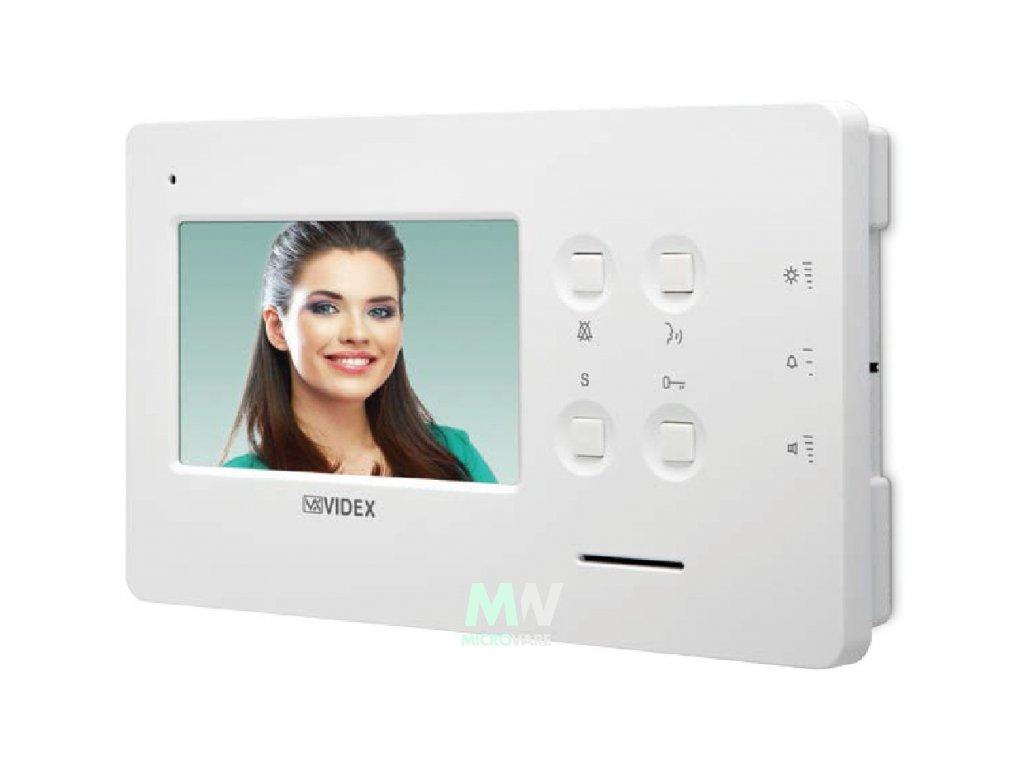 """Videx Art. 6478/MV (B) Videotelefon s barevným LCD displejem 4,3"""" a pamětí pro ukládání snímků - montáž na šířku"""