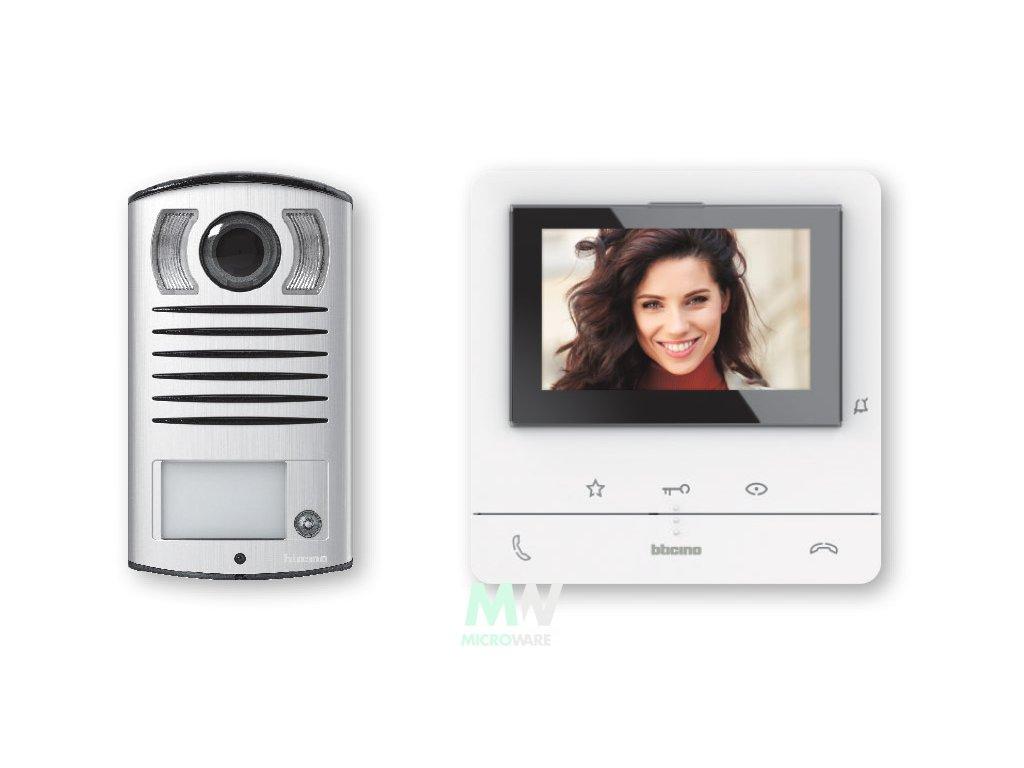 Sada Bticino 364613 videotelefon Classe 100 a vstupní panel Linea 2000