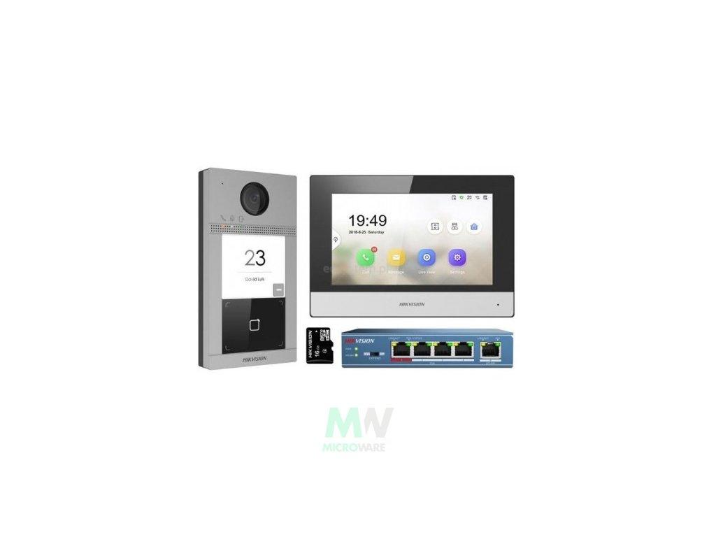 ds kis604 s kit ip videotelefonu bytovy monitor dverni stanice switch microsd