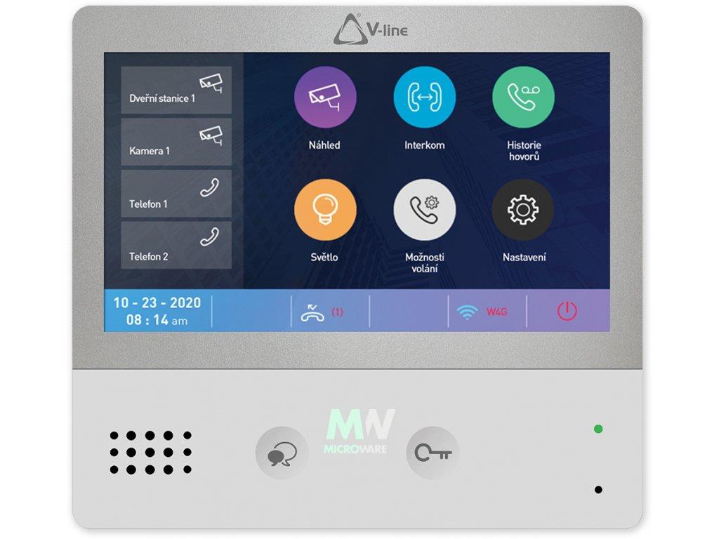 """V-LINE VT-D-70-WF vnitřní WIFI 7"""" LCD videotelefon"""