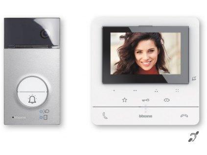 Sada Bticino 364612 videotelefon Classe 100 + vstupní panel Linea 3000