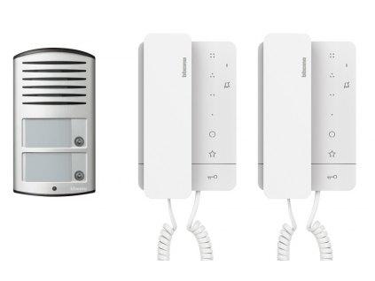 Bticino sada pro 2 byty (audiotelefon Classe 100 + vstupní panel Linea 2000)