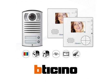 "Bticino 365521 3,5"" VIDEO SADA, LINEA 2000 pro 2 byty"