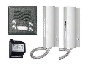 4FY 110 26-2 Audiosada 4+n s elektronickým vyzváněním pro 2 byty (Barevné provedení Antika - stříbrná)