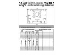 Videx ART. 5980 Montážní záda pro videotelefony série 3600 a 5000 ECLIPSE, montáž na zeď