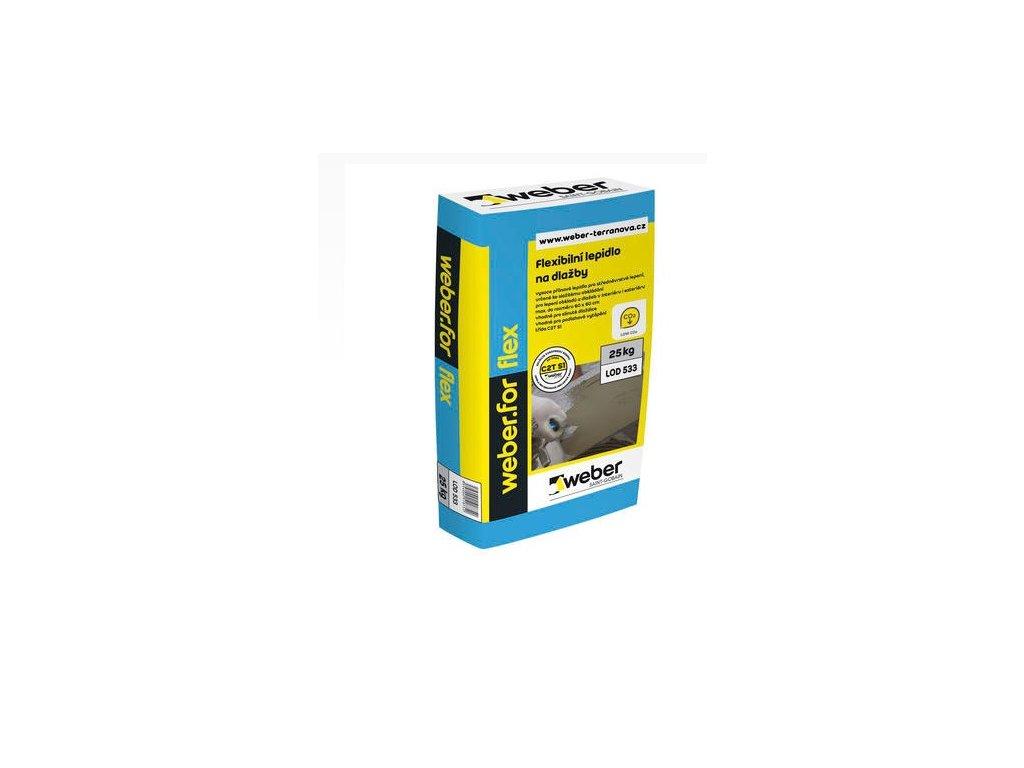 Weberfor flex - flexibilní lepidlo na obklady a dlažby C2T S1 25kg