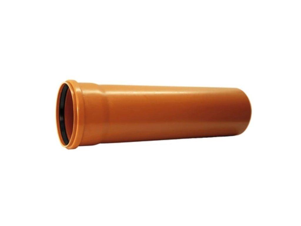 KGEM trubka s hrdlem pro kanalizaci DN 125, délka 2000 mm
