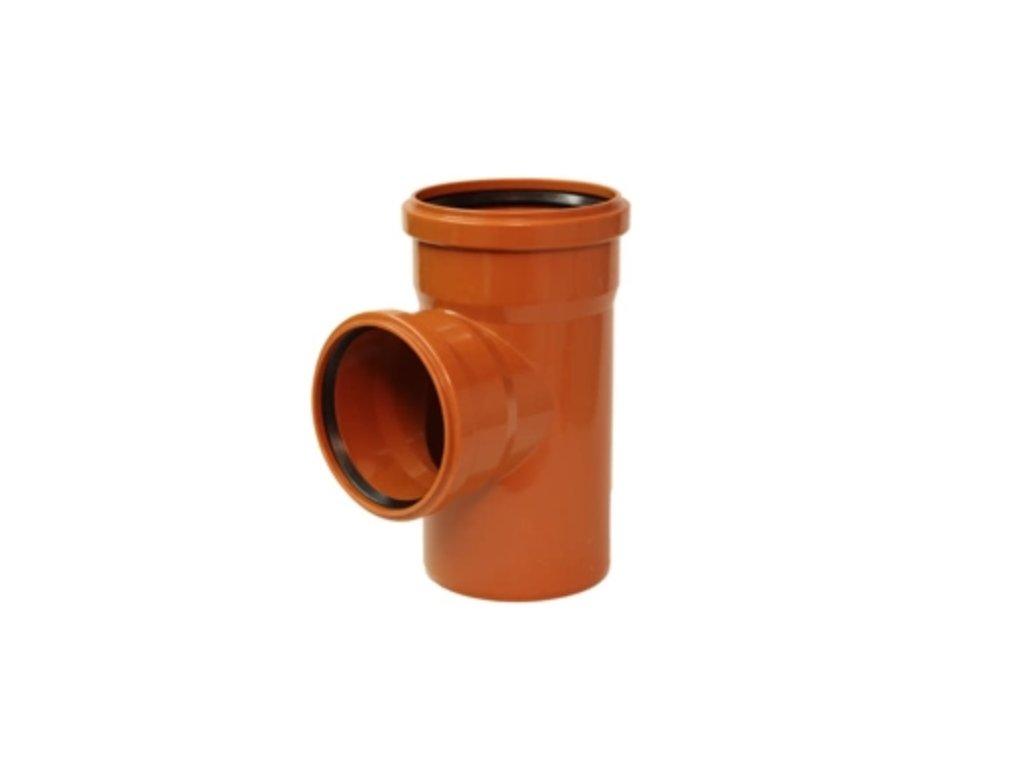 KGEA odbočka pro připojení boční kanalizační větve DN 125/100, úhel 87,5°