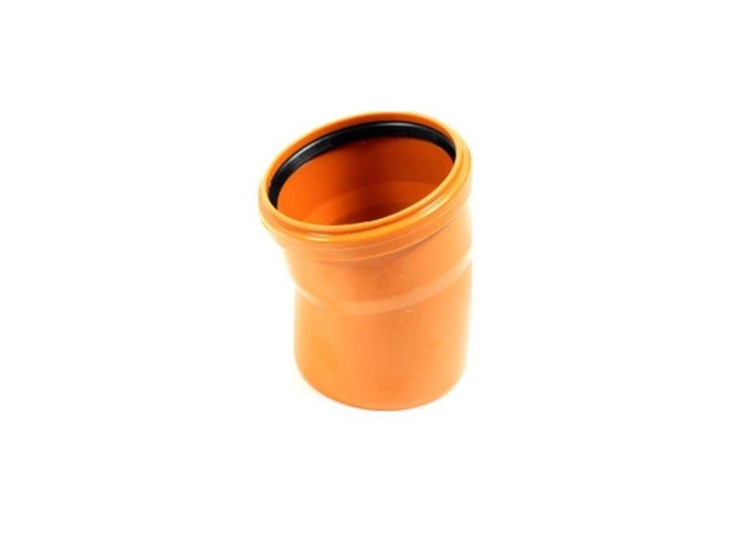KGB koleno pro kanalizační potrubí DN 100, úhel 15°, barva oranžová