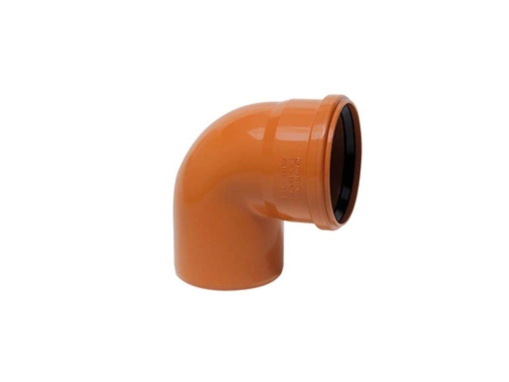 KGB koleno pro kanalizační potrubí DN 100, úhel 67,5° , barva oranžová