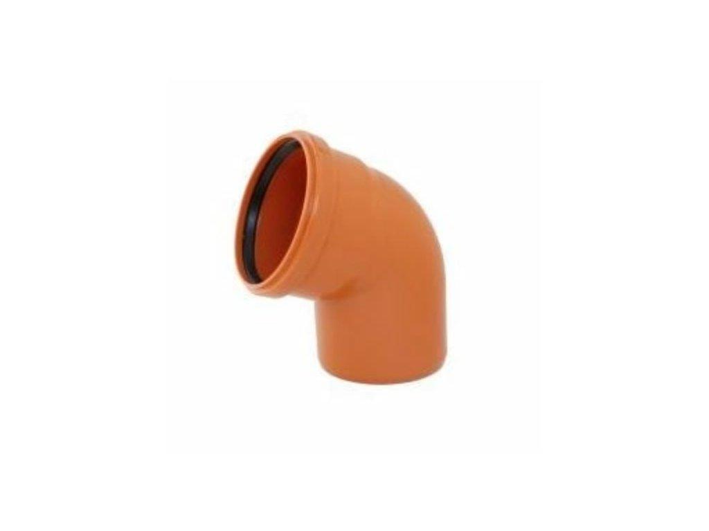 KGB koleno pro kanalizační potrubí DN 125, úhel 67,5°, barva oranžová