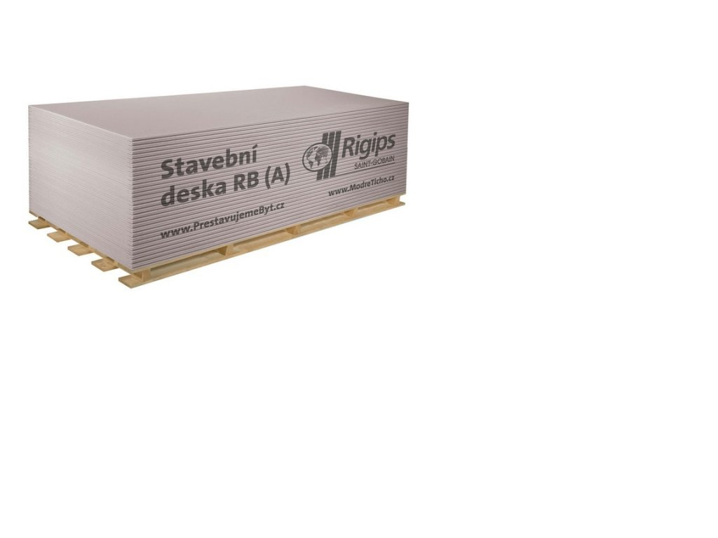 Deska sádrokartonová základní Rigips RB 12,5×1250×2000 mm