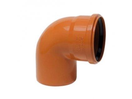 KGB koleno pro kanalizační potrubí DN 250, úhel 87,5° , barva oranžová