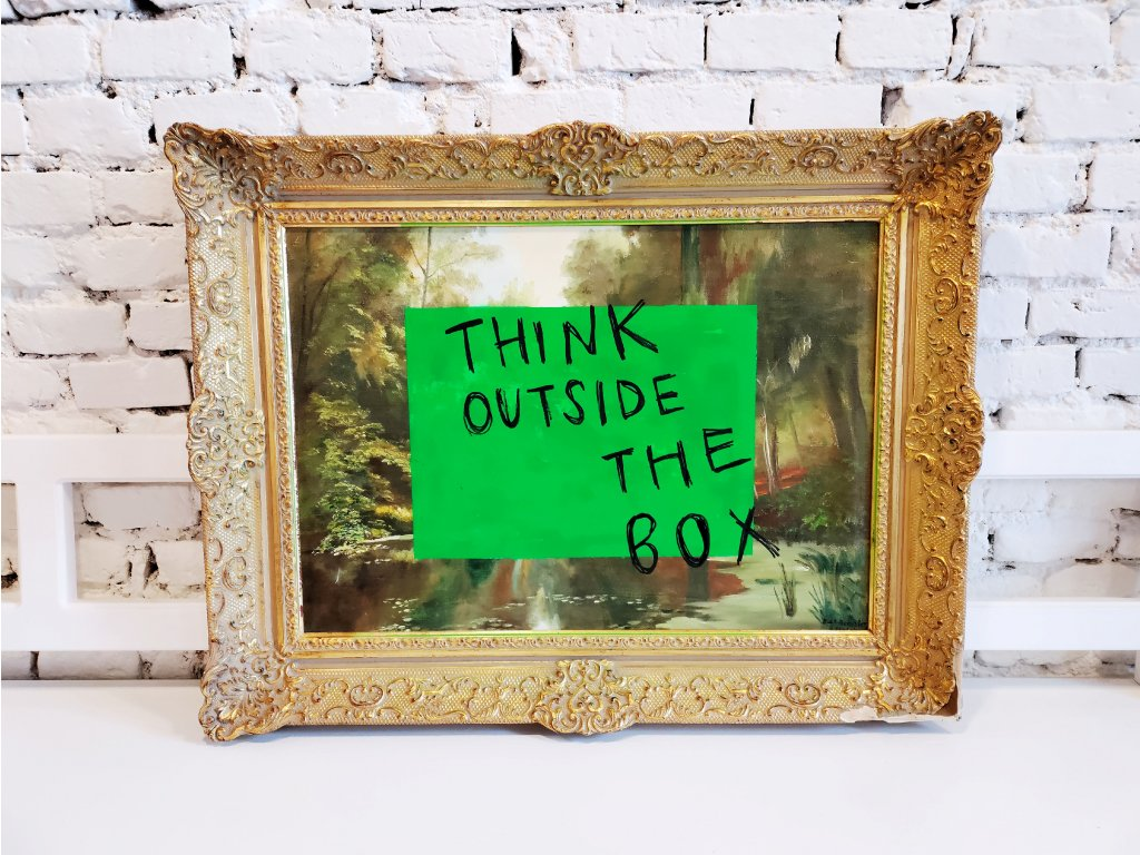 """Obraz """"Out of box"""""""