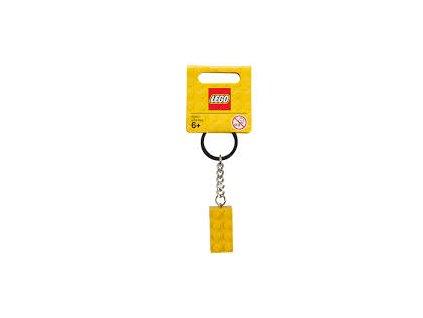 LEGO 852095 Přívěšek na klíče kostička žlutá