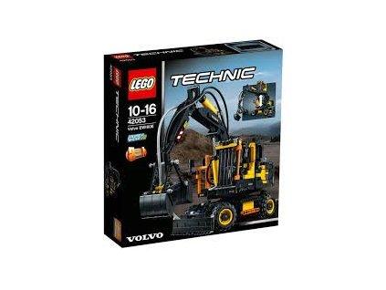 Lego TECHNIC 42053 Volvo EW 160E  + volná rodinná vstupenka do Muzea LEGA Tábor v hodnotě 370 Kč