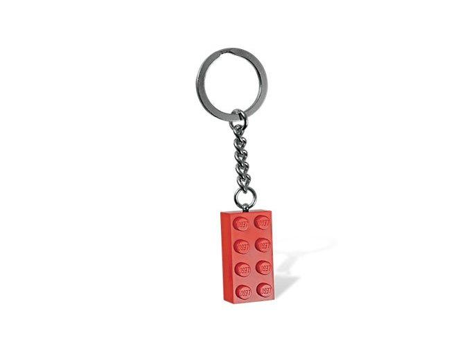 LEGO 850154 Přívěsek na klíče kostička červená