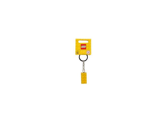 LEGO 852095 Přívěsek na klíče kostička žlutá