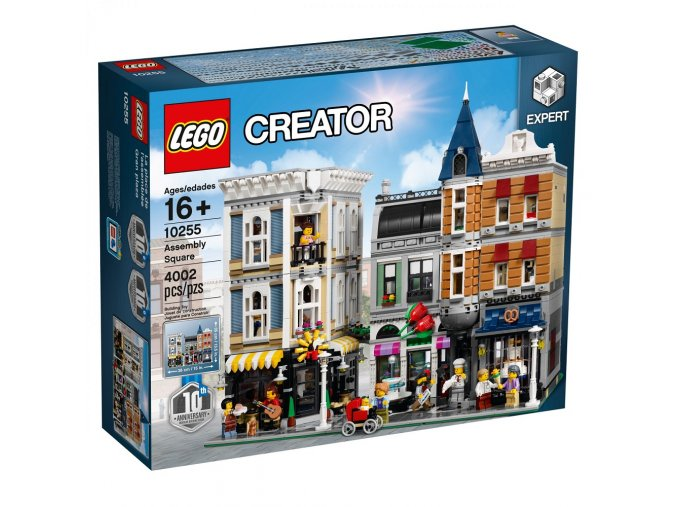 LEGO Creator 10255 Assembly Square  + volná rodinná vstupenka do Muzea LEGA Tábor v hodnotě 370 Kč