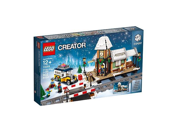 LEGO 10259 Nádraží v zasněžené vesnici  + volná rodinná vstupenka do Muzea LEGA Tábor v hodnotě 370 Kč